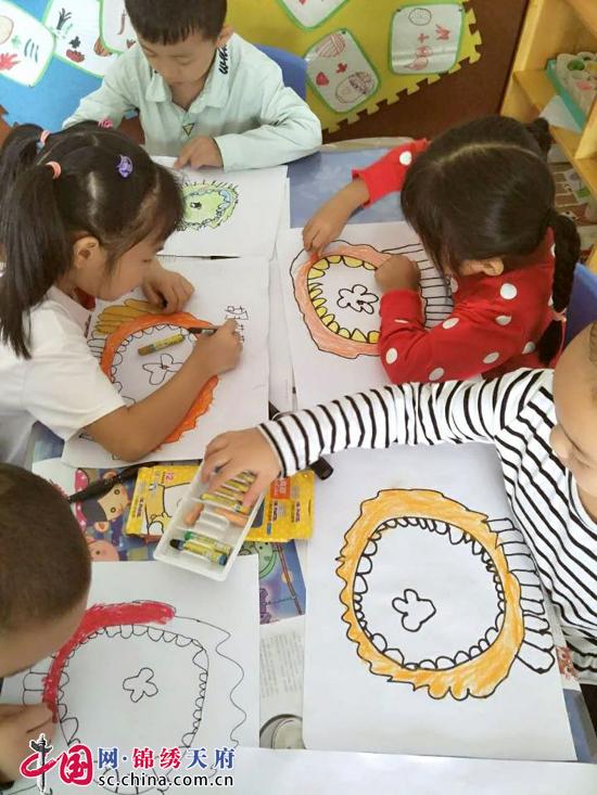 邛崃市拱辰幼儿园开展中秋节主题