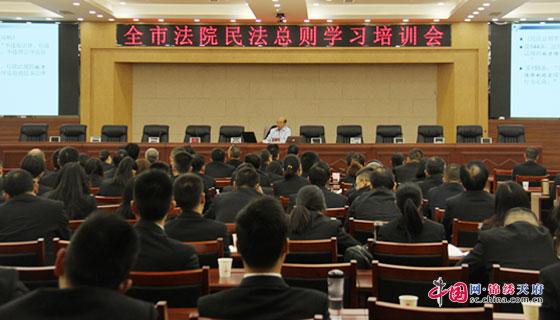南充市法院《民法总则》学习培训会在顺庆法院举行
