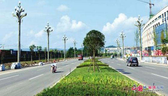 投资5亿元 南充营山实施县城一环路绿化景观工程