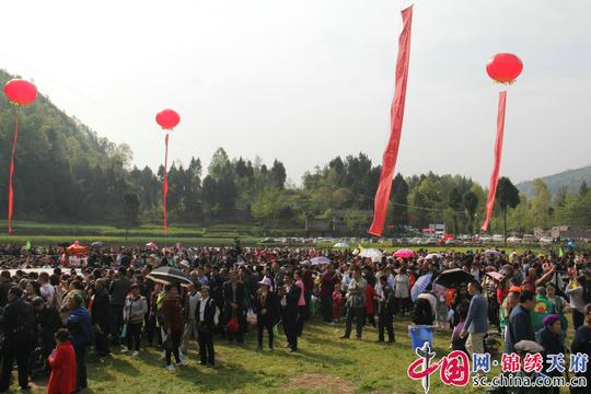 四川通江县梨园坝村举办第二届民俗文化节