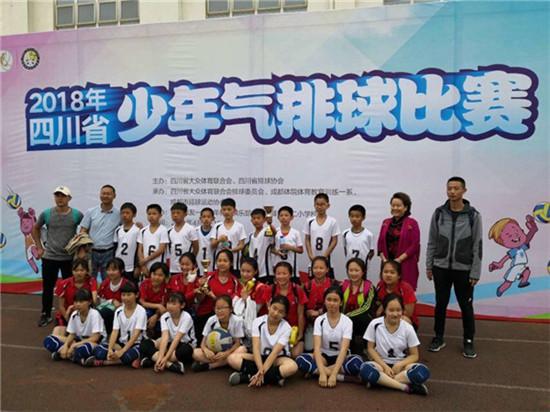玉林小学男女排球队在四川省气排球比赛上斩获佳绩