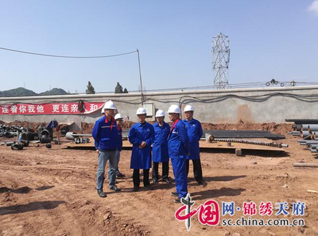 遂宁市公安局督导中石化蓬溪油库工程建设