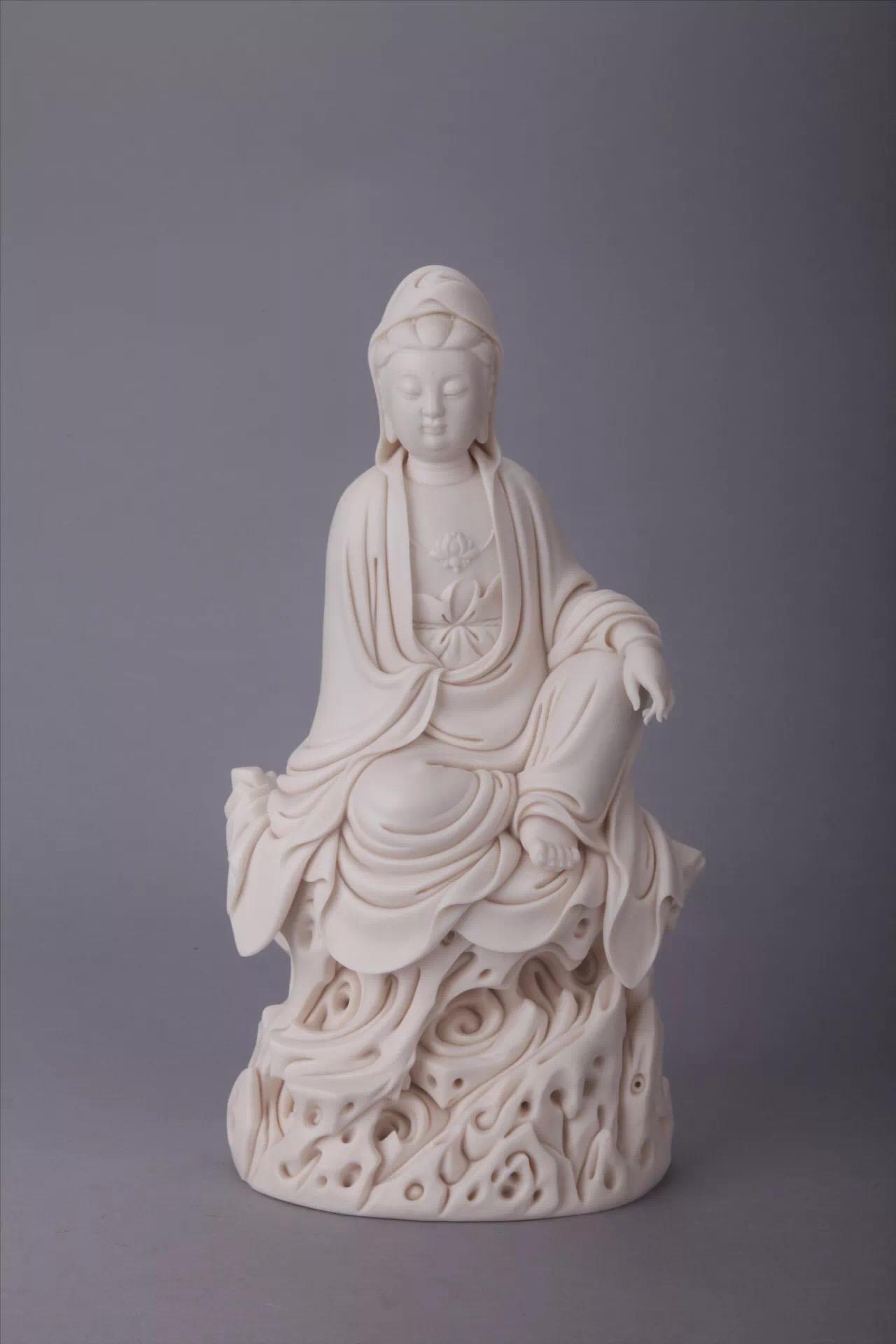 藏德化陶瓷藏品及当代德化县非遗大师的德化陶瓷雕塑作品共计100余件.