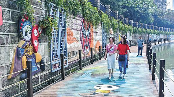 感受老北門記憶 成都錦江綠道樣板段開放