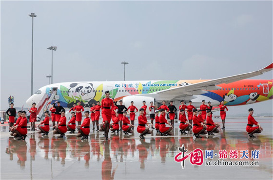 熊猫主题彩绘惊艳四川航空首架空客A350飞机