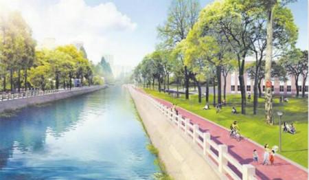 隔岸观景 东风渠成都理工大学段景观改造工程月内完工