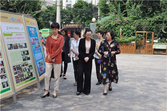 四川省妇联主席郑备调研考察青羊区家庭教育基地