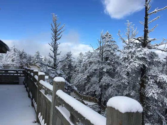 云海雪景配日出,西岭雪山冬日美景来袭