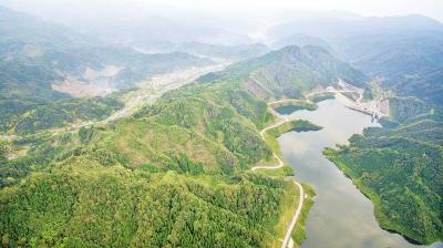 历时4年多建设 什邡八角水库(冰川湖)枢纽工程竣工