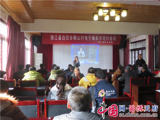 成都蒲江县技工学校开展白云乡鞍山村电子商务示范村培训