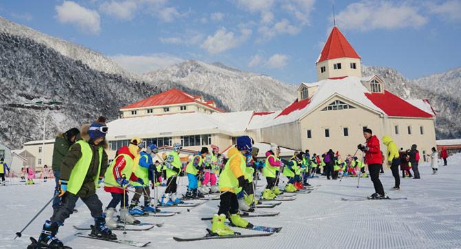 南方孩子组团上西岭 森林课堂满足所有的冰雪梦想