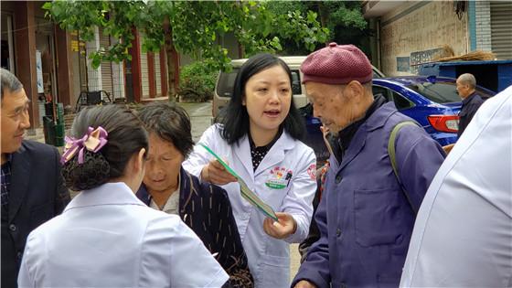 中江县委宣传部携手医疗单位送健康到石笋