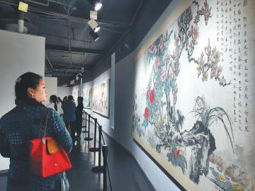 第六届诗书画印艺术展成都开幕