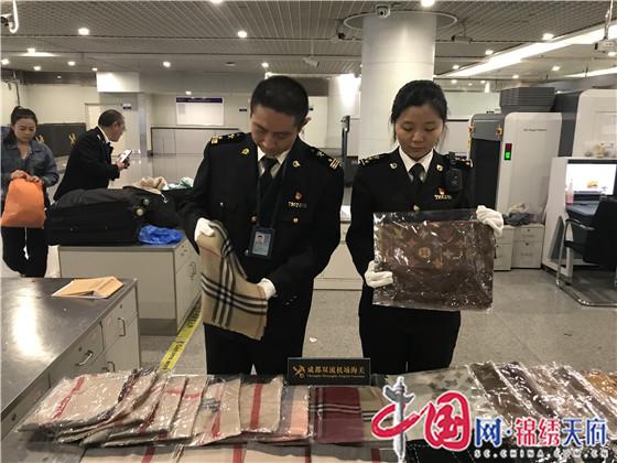 成都海关查获33件侵犯知识产权物品