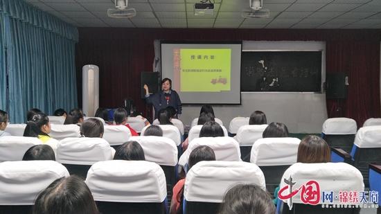 经开区消防大队到遂宁市职业技术学校开展消防