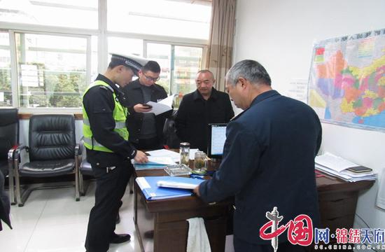 射洪市公安交警大队到辖区运输企业开展安全宣传检查工作